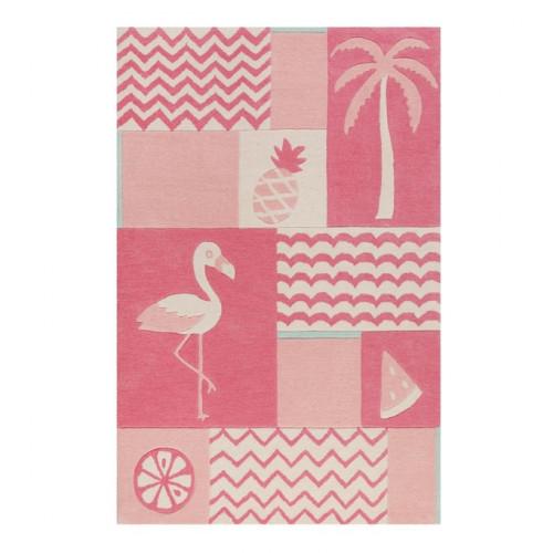 Tapis enfant Fruity Flamingo rose