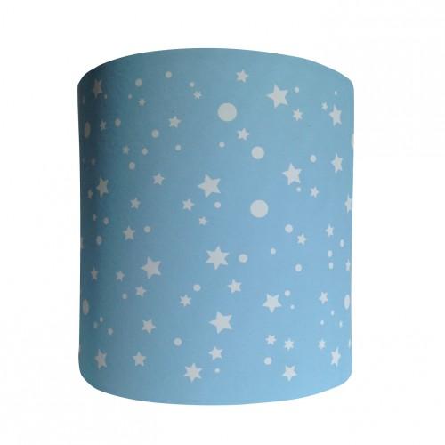 Abat jour ou suspension cylindrique étoiles de la galaxie bleu clair