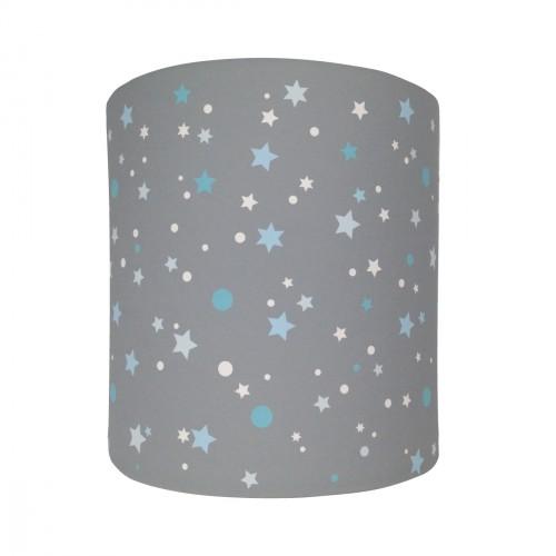 Applique lumineuse grise étoiles de la galaxie bleues