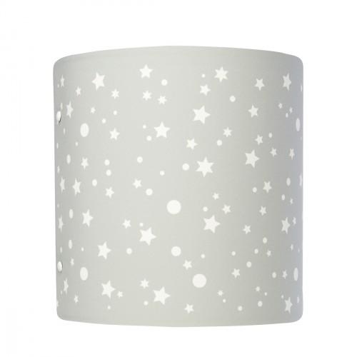 Abat jour ou suspension cylindrique étoiles de la galaxie gris perle