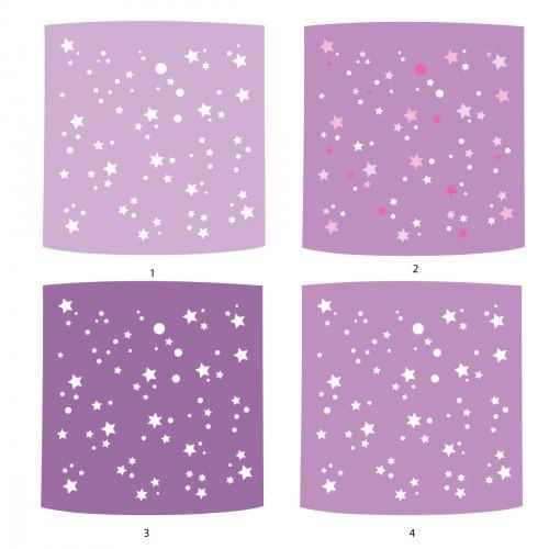 Mauve Galaxie Ou La Cylindrique Étoiles Suspension Jour Abat De Aj5Lc4qR3S