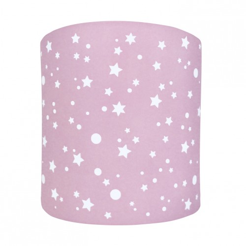 Abat jour ou suspension cylindrique étoiles de la galaxie rose pâle