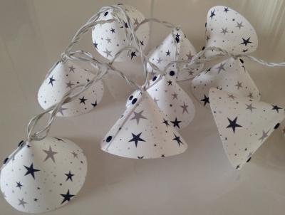Guirlande lumineuse étoiles magiques bleu marine