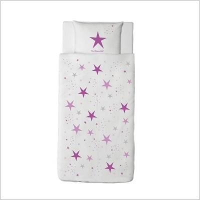 housse couette etoiles magiques violet lili pouce. Black Bedroom Furniture Sets. Home Design Ideas