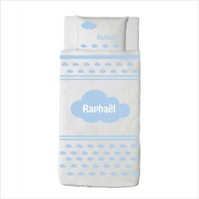 Housse de couette nuage bleu RAPHAEL