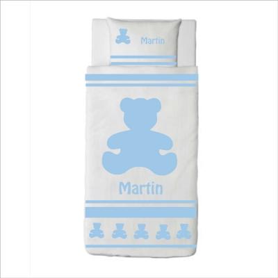 Housse de couette ours Martin bleu