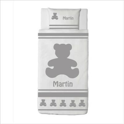 Housse de couette ours Martin gris