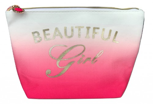 Trousse beautiful Girl personnalisable rose