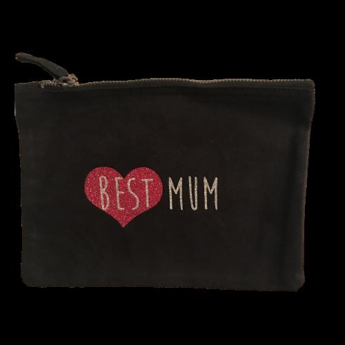 Pochette Best Mum pailletée personnalisable