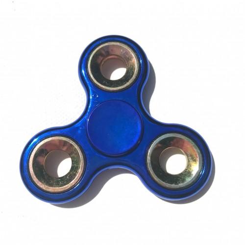Hand spinner métallisé bleu et doré