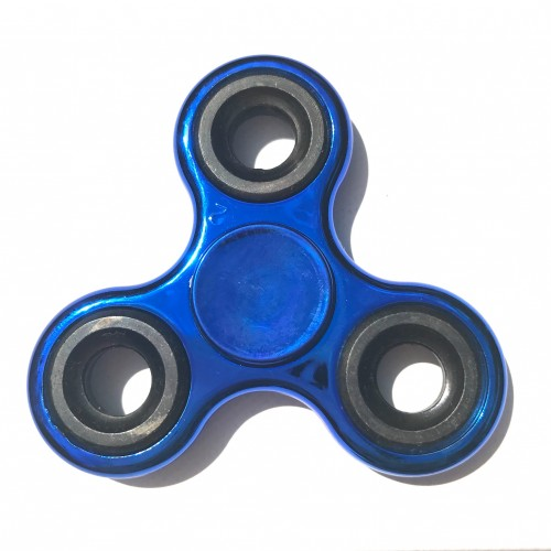 Hand spinner métallisé bleu et noir