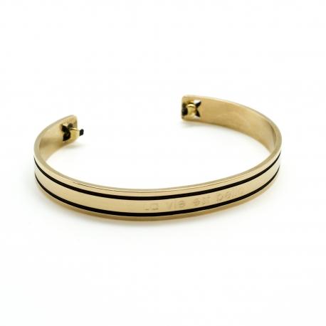 Bracelet Jonc Philharmonie Duo - plaqué or