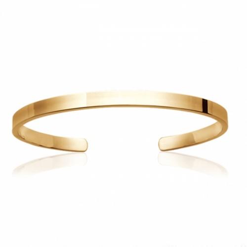 Bracelet Jonc - Solo plaqué or jaune