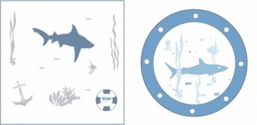 Kit deco Requin - 50% sur le hublot requin