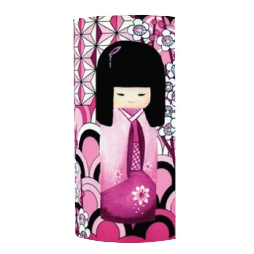 Lampe à poser Géante kokeshi dans les fleurs