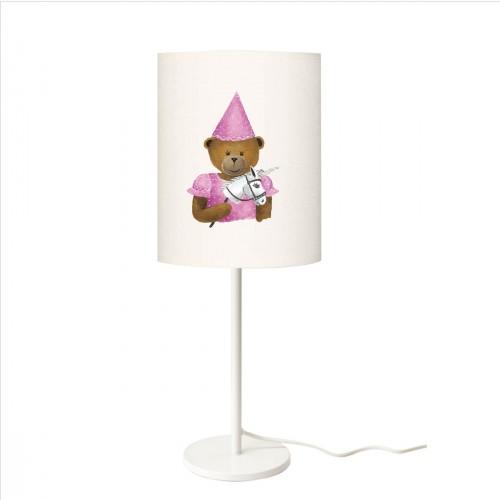 Lampe à poser ours à la licorne personnalisable