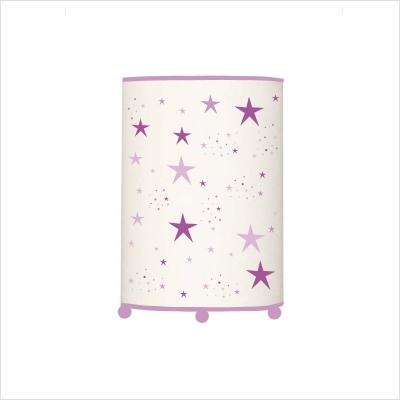 Lampe à poser étoiles magiques mauves