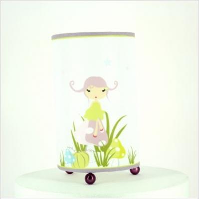 Lampe à poser fée champignon