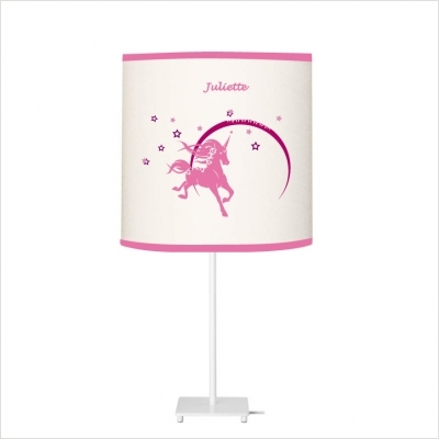 Lampe à poser licorne rose