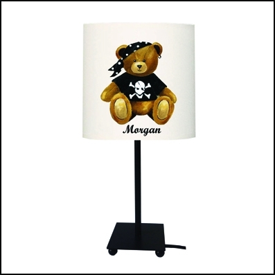 Lampe à poser ours pirate Morgan personnalisable