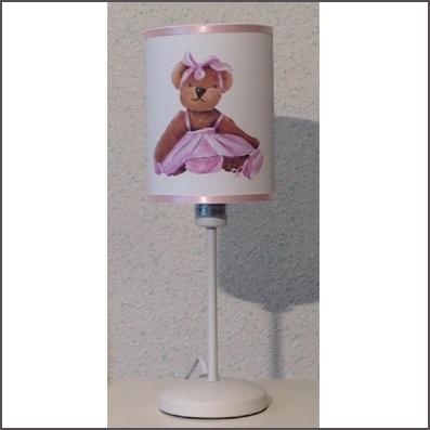 Lampe à poser petite ours danseuse personnalisable