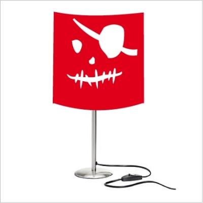Lampe tête de mort rouge