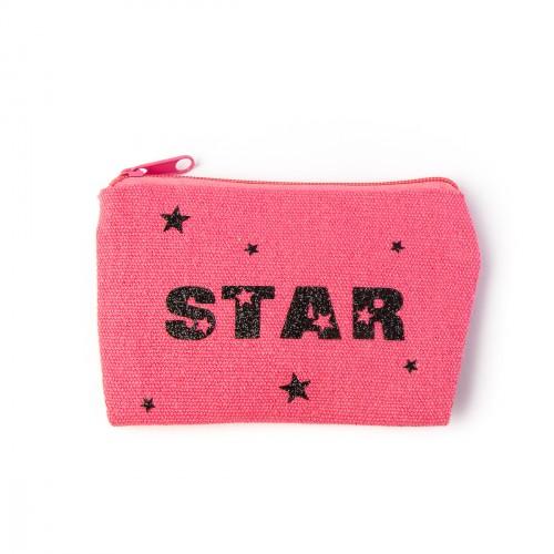 Porte monnaie rose STAR personnalisable