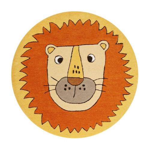 Tapis enfant rond lion Linus