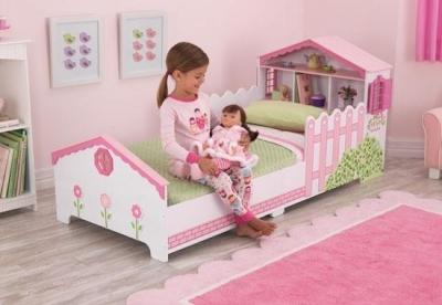 Lit maison de poupée pour tout-petits