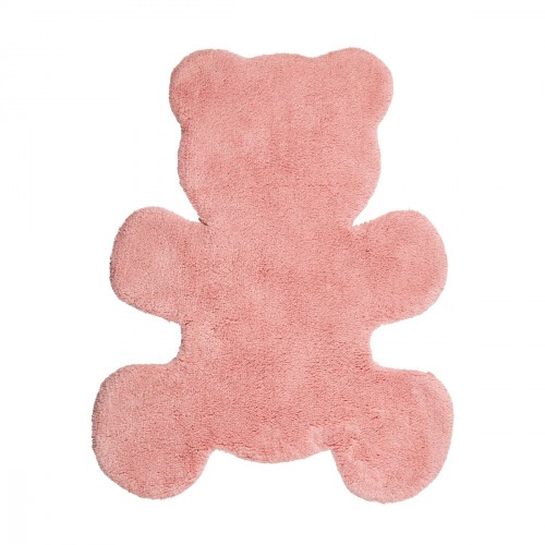 Tapis en coton Little Teddy rose de Nattiot