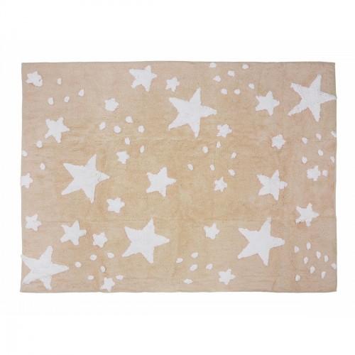 Tapis pluie d'étoiles beige