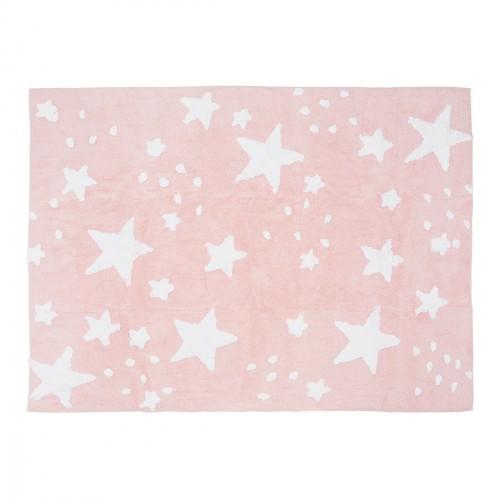 Tapis pluie d'étoiles rose