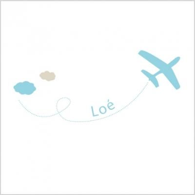 Looping avion bleu