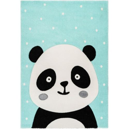 Tapis enfant panda Madura vert menthe