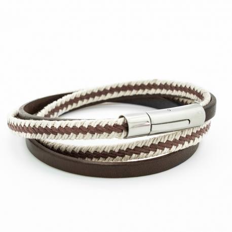 Bracelet Le Marin marron - Acier
