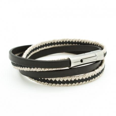 Bracelet Le Marin noir - Acier