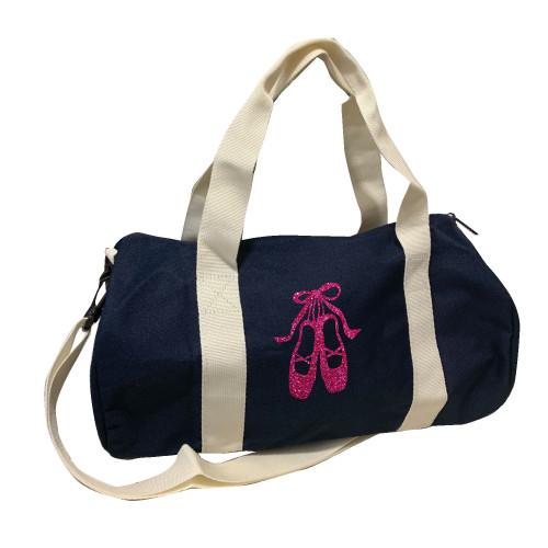Sac de sport marine chaussons de danse rose pailleté personnalisable