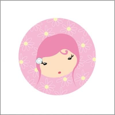 Miroir de poche fée rose