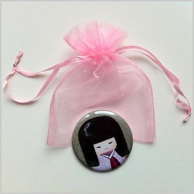 Miroir de poche kokeshi fille 6