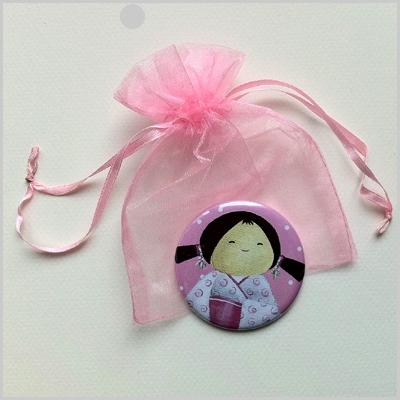 Miroir de poche kokeshi fille 8