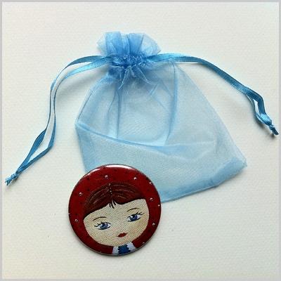 Miroir de poche poupée russe 2