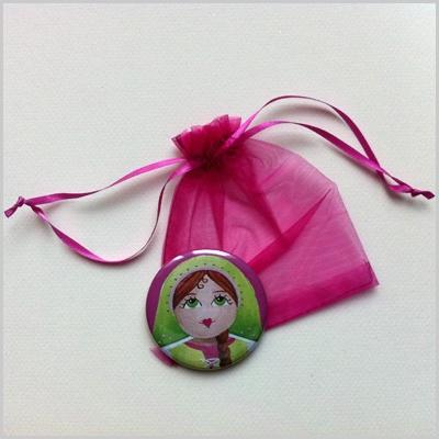 Miroir de poche poupée russe 6