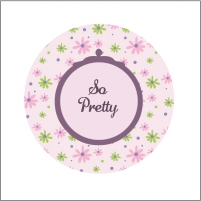 Miroir de poche So pretty fleuri