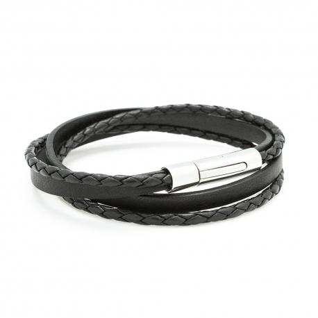 Bracelet Le Mix noir - Acier