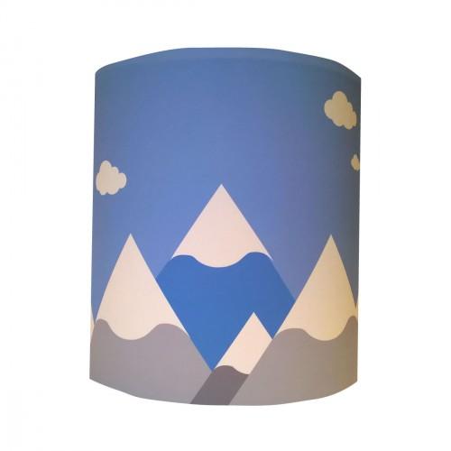 Applique montagnes bleues personnalisable