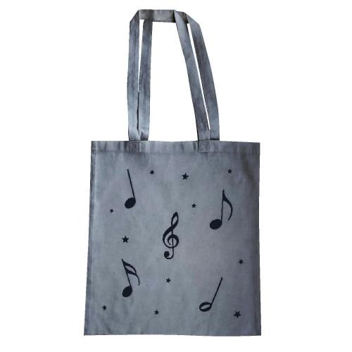 Tote bag notes de musique et clé de sol