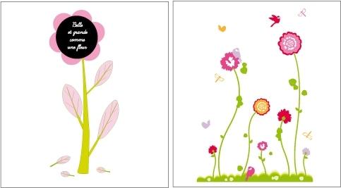 Pack déco florale : 2 décors fleurs