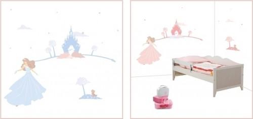 Pack déco princesse : 1 décor + une plaque de porte