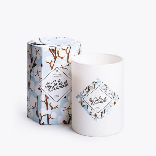 Bougie Fleur de Coton avec bracelet argent