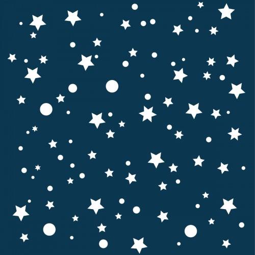 Papier peint bleu marine étoiles de la galaxie